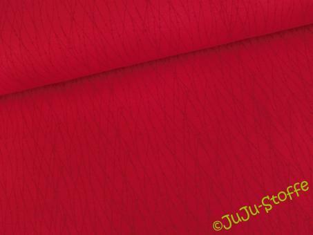 """Jersey """"Valerie"""" Linien & Punkte rot Öko-Tex"""