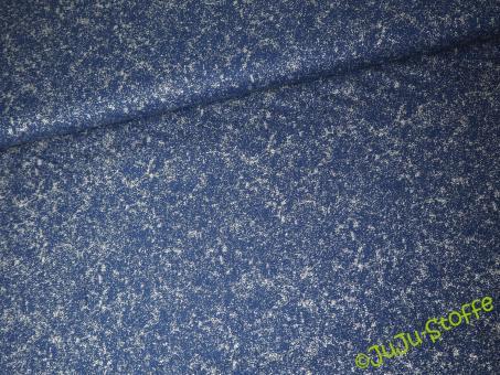 """Baumwolle """"Comet"""" blau silber"""