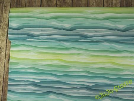 "Jersey ""Wavy Stripes"" grün by lycklig design Öko-Tex"