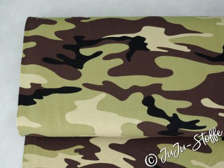 "Jersey ""Camouflage"" grün Öko-Tex"