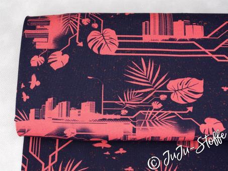 """Jersey """"Urban Jungle by Thorsten Berger"""" koralle Öko-Tex"""