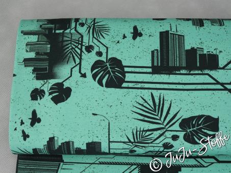 "Jersey ""Urban Jungle by Thorsten Berger"" mint Öko-Tex"