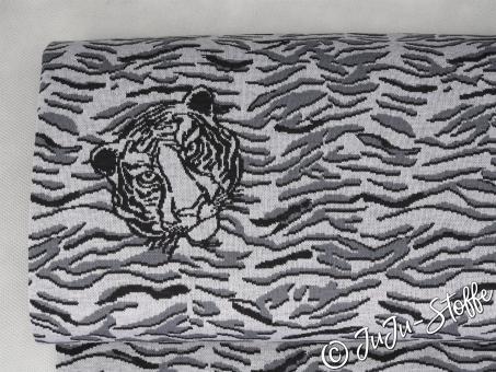 "Strickjacquard ""Safari"" Tiger Öko-Tex"