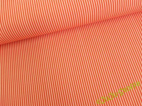 """Baumwolle """"Streifen"""" orange"""