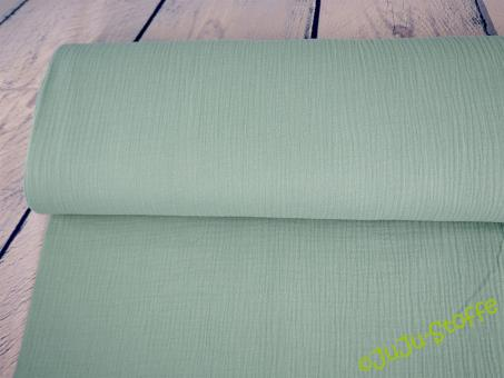 Musselin uni dusty mint