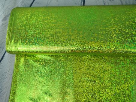 Folienjersey irisierend grün