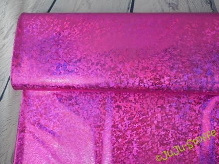 Folienjersey irisierend pink