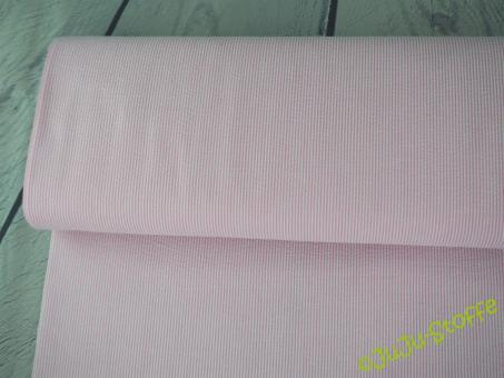 """Baumwolle """"Seersucker"""" Streifen rosa weiß"""