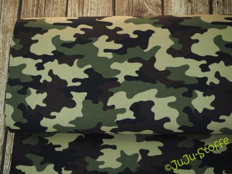 "Sweat ""Camouflage"" grün Öko-Tex"