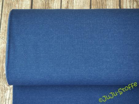Double-Jersey dunkelblau meliert - grau meliert Öko-Tex