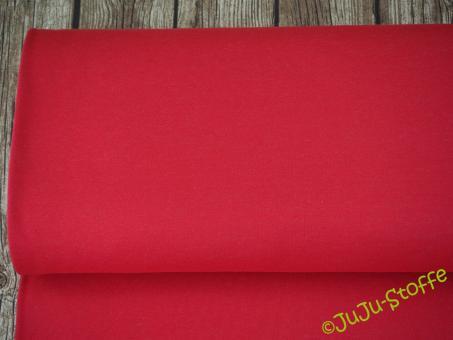 Double-Jersey rot - grau meliert Öko-Tex