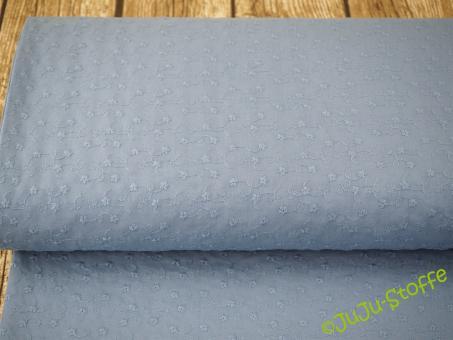 "Baumwolle-Batist ""Blümchen gestickt"" jeans"