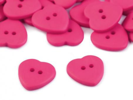 Herz-Knopf, pink