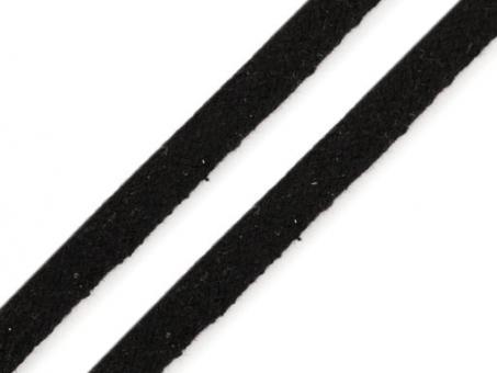 Kordel flach schwarz 10mm
