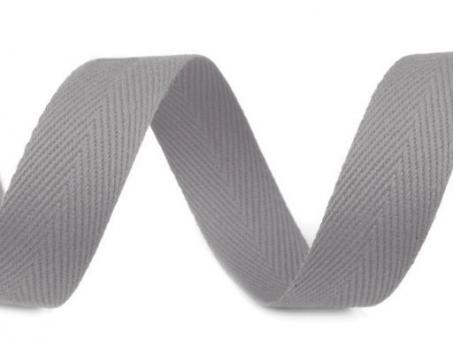 Köperband 20mm grau