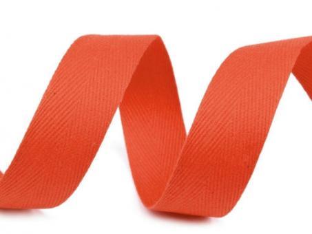Köperband 20mm orange