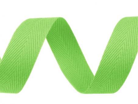 Köperband 20mm hellgrün