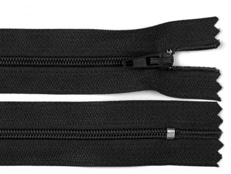 Reißverschluss 25 cm schwarz