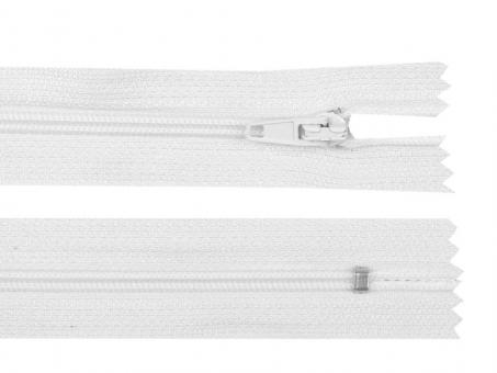 Reißverschluss 25 cm weiß