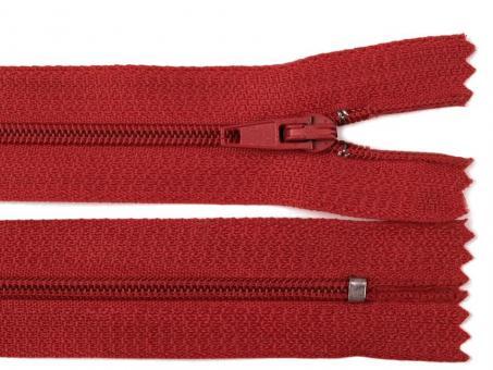 Reißverschluss 25 cm rot