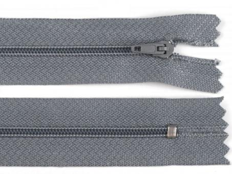 Reißverschluss 25cm grau