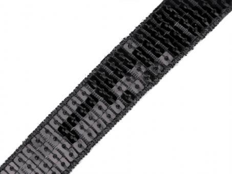 Pailettenborte schwarz 22mm