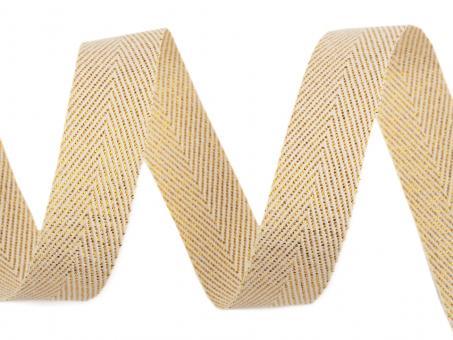 Textilband mit Lurex creme gold