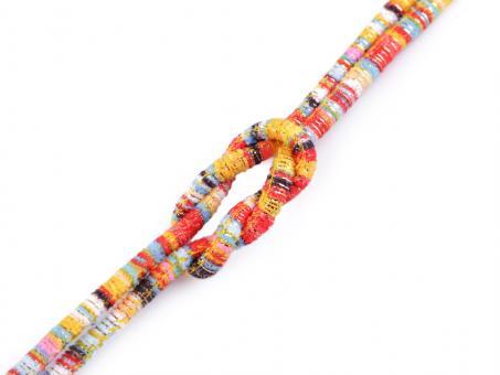 "Kordel ""Multicolor - Lurex"" , gelb orange, 6mm"