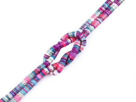 "Kordel ""Multicolor - Lurex"" , lila rosa, 6mm"