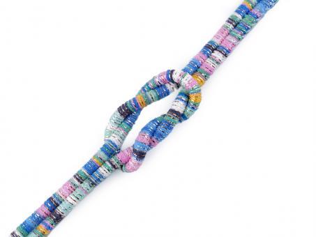 "Kordel ""Multicolor - Lurex"" , blau mint, 6mm"
