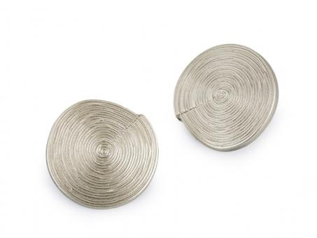 "Knopf ""Spirale"" silberantik 34mm"