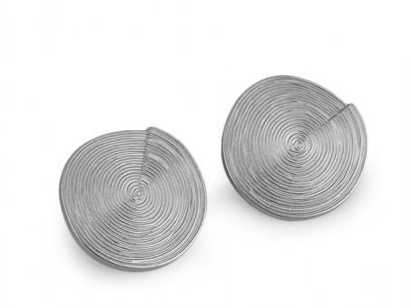 """Knopf """"Spirale"""" silberfarben 34mm"""