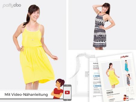 """Papierschnittmuster """"Damen Sommerkleid Coco"""" von pattydoo ..."""