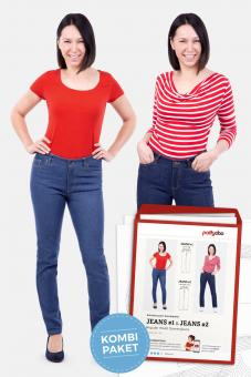 "Papierschnittmuster ""Damenjeans Regular Waist Jeans #1 und Jeans #2"" von pattydoo"