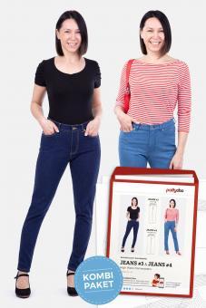 "Papierschnittmuster ""Damenjeans High Waist Jeans #3 und Jeans #4"" von pattydoo"