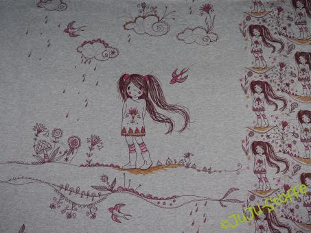 """Bio-Jerseypanel """"Mangagirl"""" von Susalabim, Lillestoff (GOTS)"""