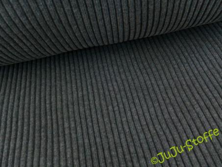 Bündchen Grobripp grau Schlauchware Öko-Tex