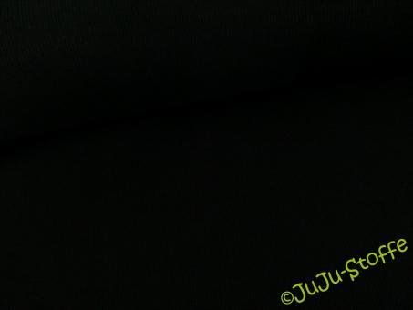 Bündchen Doppelripp schwarz Öko-Tex