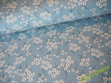 """Modal """"Flowers"""" blau Öko-Tex"""