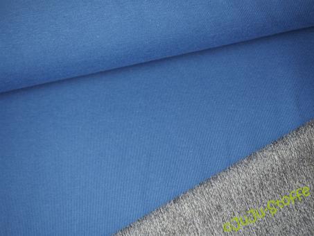 Sommer-Sweat Doubleface blau grau meliert Öko-Tex