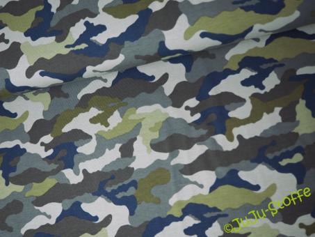 Jersey Camouflage grün Öko-Tex