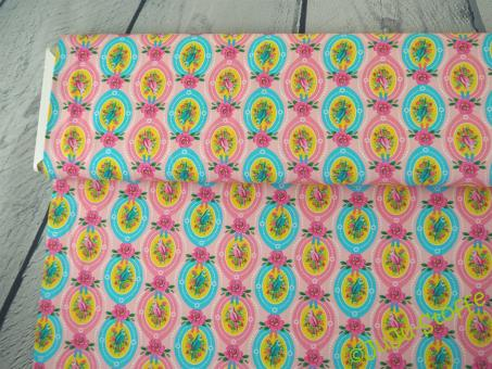 """Baumwolle """"Candy Bird"""" von der Designerin Fiona Hewitt Öko-Tex"""