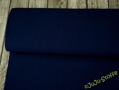 Musselin uni dunkelblau Öko-Tex