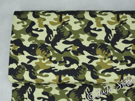 "Baumwolle ""Shrek Camouflage"" Öko-Tex"