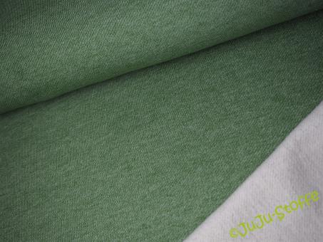 Baumwoll-Lammfleece grün Öko-Tex