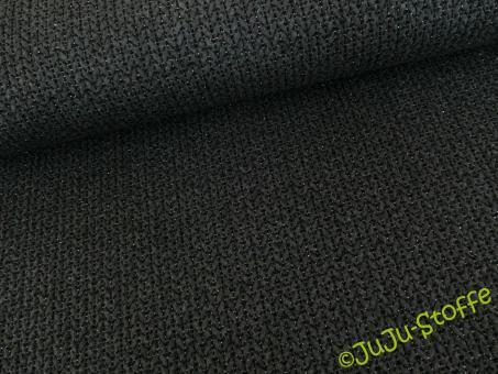 Knit Knit Jacquard Jersey GLAM anthramel / schwarz / silber BIO