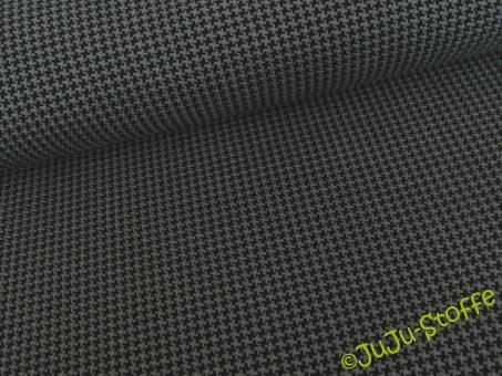 Tweed Knit Jacquard Jersey griglio londra / schwarz BIO