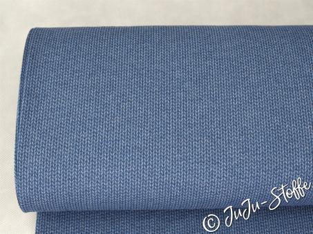 "Jacquard-Jersey ""Knit Knit"" jeans meliert / marine GOTS"