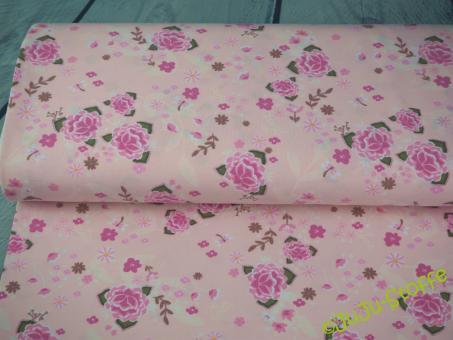 """Jersey """"Karla"""" Blumen rosa Öko-Tex"""