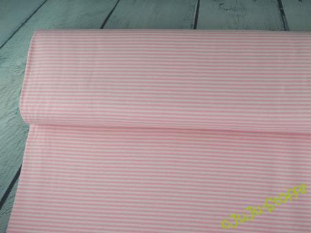 Doubleface Feinstrick Jersey rosa weiß